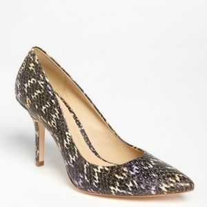 Aerin heels Fira multicolor faux snakeskin animal print textured leather size 7